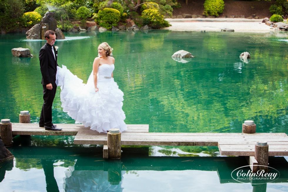 wedding photos japanese gardens